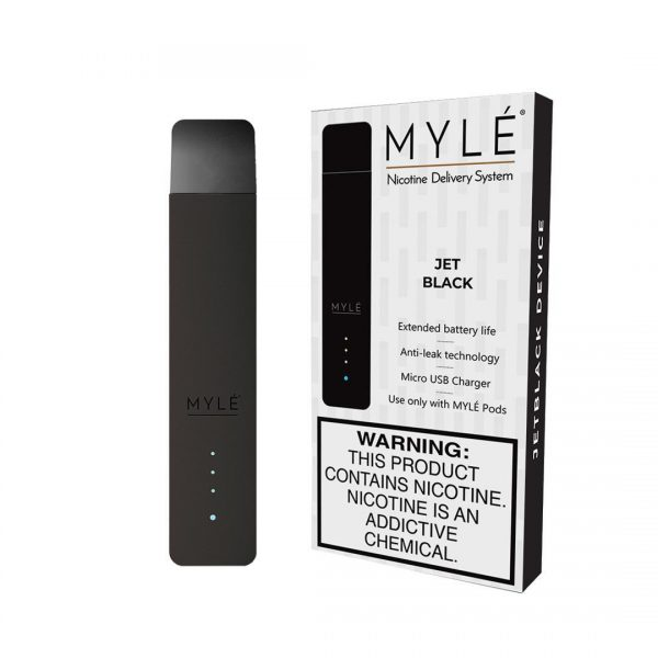 MYLÉ Jet Black Vape Starter Kit in Dubai/UAE