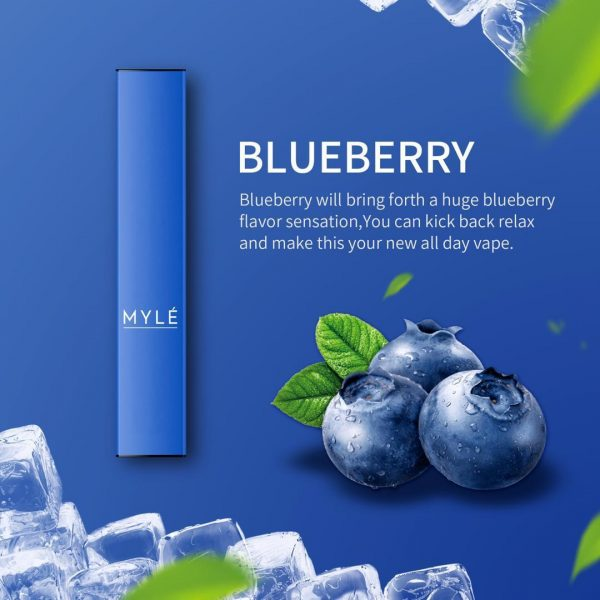 MYLE DISPOSABLE DEVICE BLUEBERRY in DUBAI/UAE